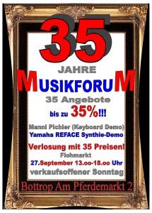35 Jahre Flyer Front