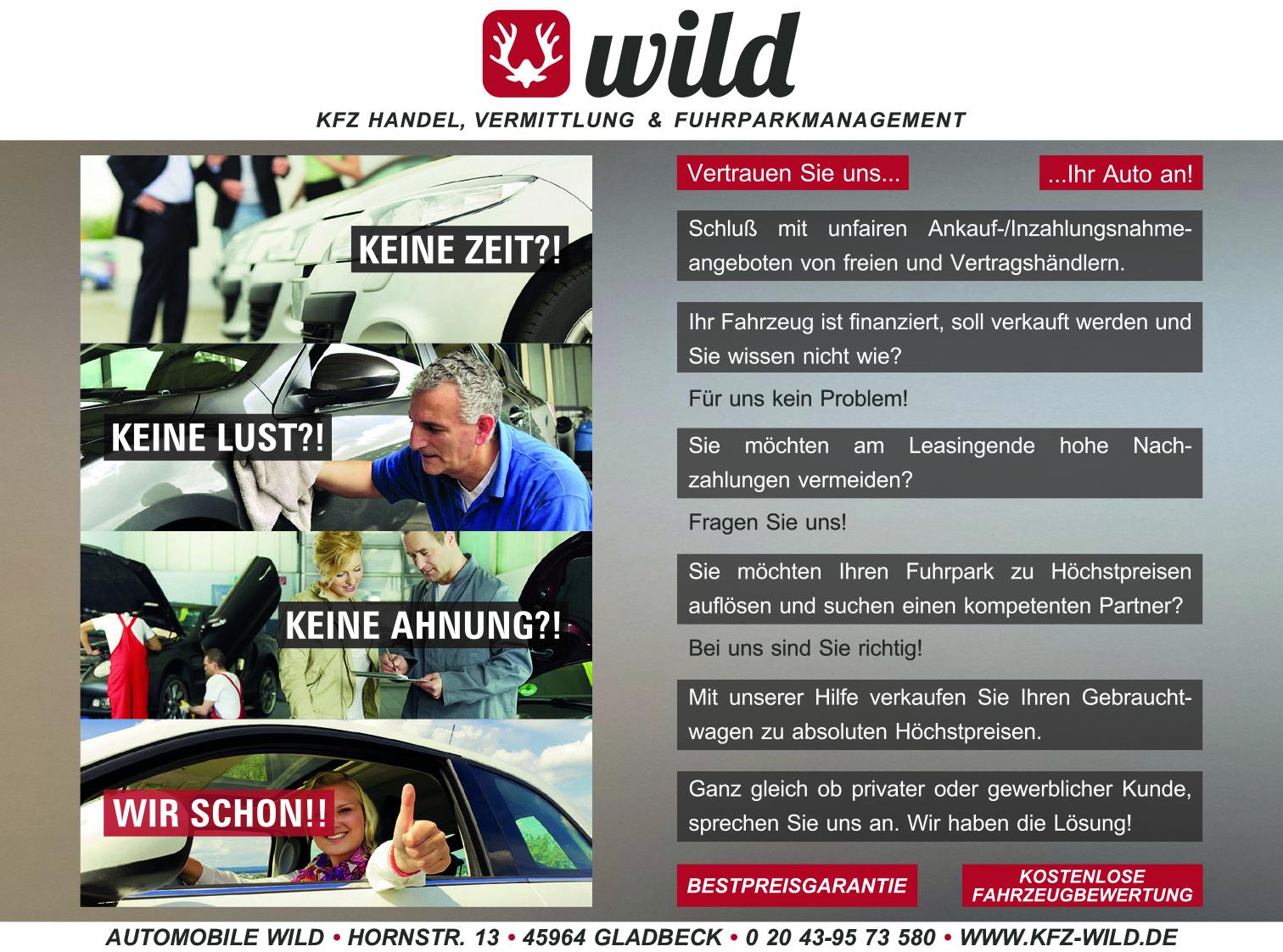 Anzeige-Wild