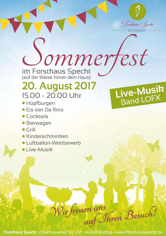 A5 Flyer Sommerfest Forsthaus Specht