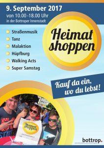 A2 Plakat Heimat shoppen 2017
