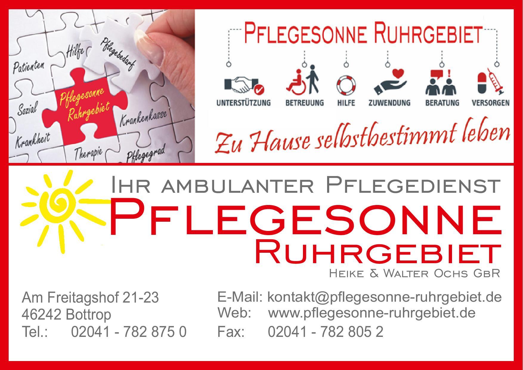 Pflegesonne Visitenkarte Werbung