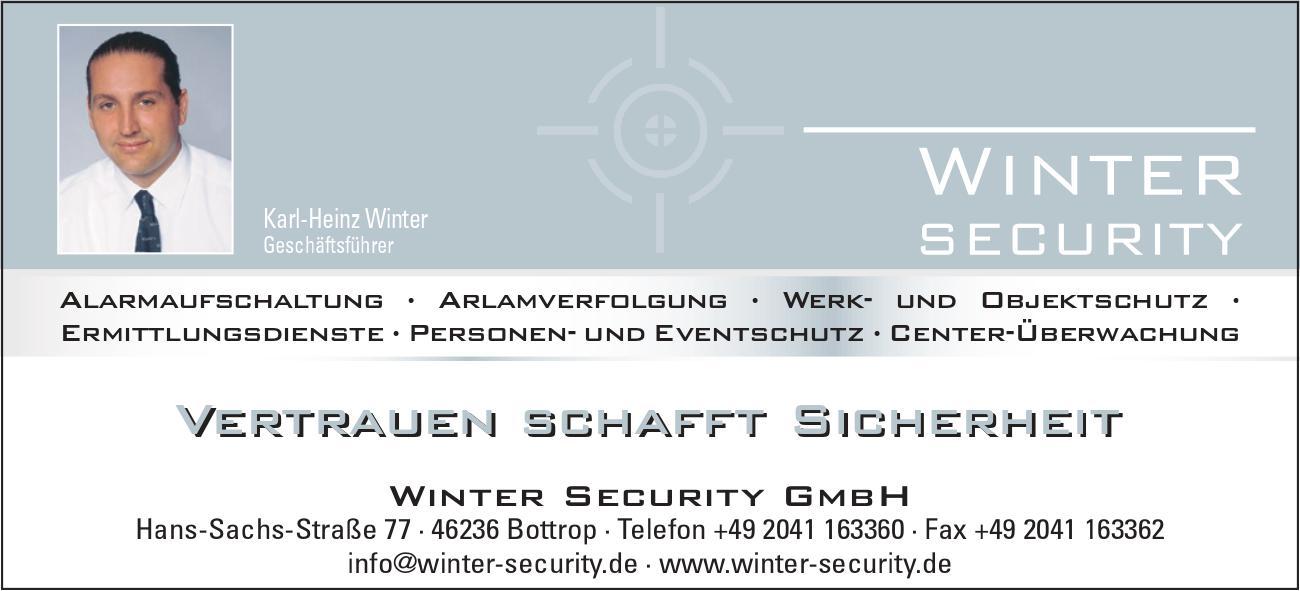 Winter Security Werbeanzeige